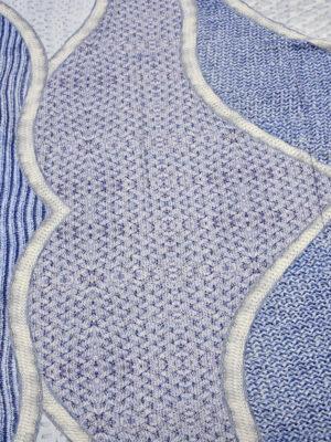Трикотаж вискоза голубой вязанный принт (1207) - Фото 14