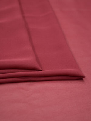 Креп шифон шелк бордовый (1214) - Фото 15