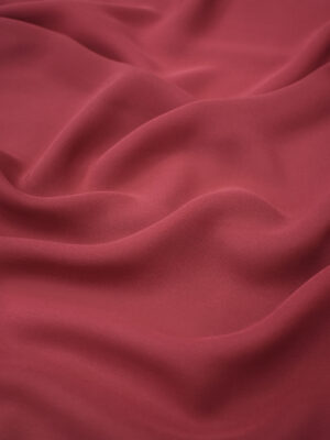 Креп шифон шелк бордовый (1214) - Фото 14