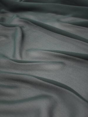 Креп шифон шелковый серый с зеленым оттенком (1220) - Фото 18