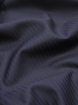 Костюмная шерсть стрейч темно-синяя в полоску (1406) - Фото 14