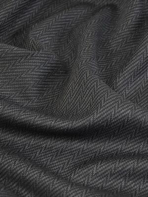 Костюмная шерсть плотная графит зигзаг (1412) - Фото 12