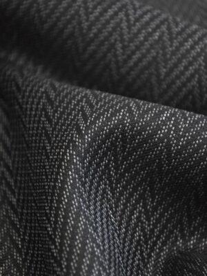 Костюмная шерсть плотная графит зигзаг (1412) - Фото 13
