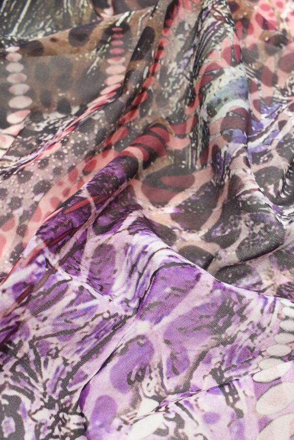 Шелк стрейч купон лилово-фиолетовый (1421) - Фото 9