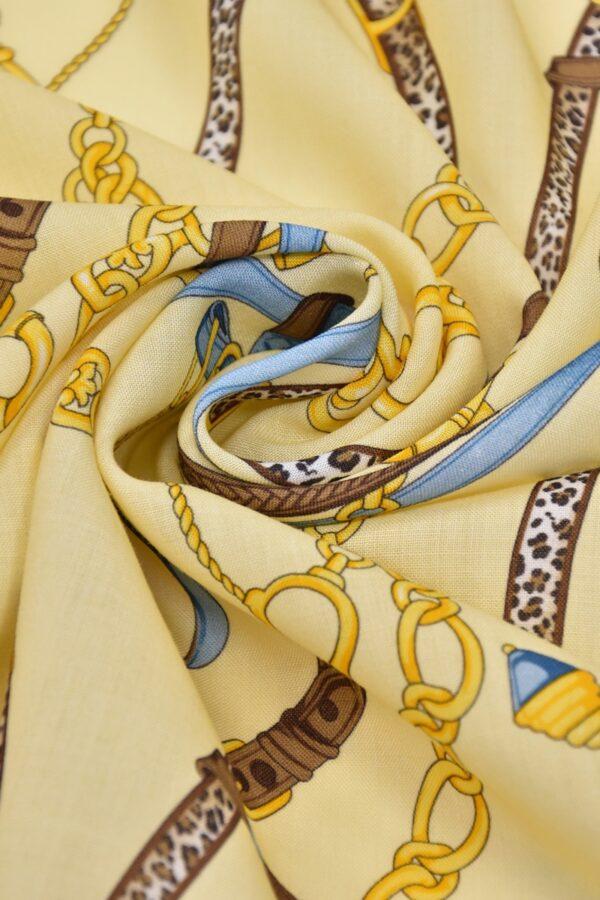 Шерсть золотые цепи кожаные ремешки (1512) - Фото 8