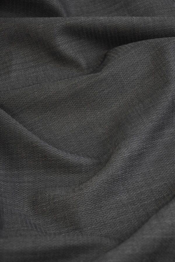 Костюмная холодная шерсть графит в мелкий зигзаг (1522) - Фото 6