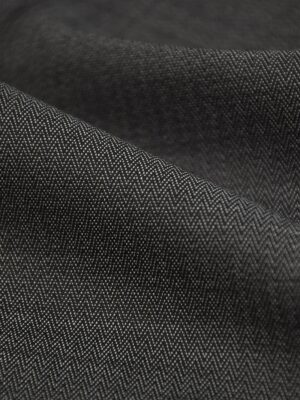 Костюмная холодная шерсть графит в мелкий зигзаг (1522) - Фото 13