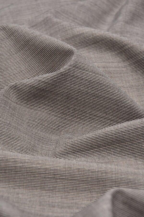 Костюмная шерсть стрейч песочный меланж (1551) - Фото 6