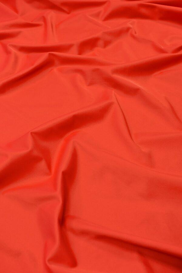 Атлас стрейч красно-коралловый (1844) - Фото 6