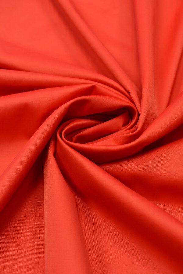 Атлас стрейч красно-коралловый (1844) - Фото 7