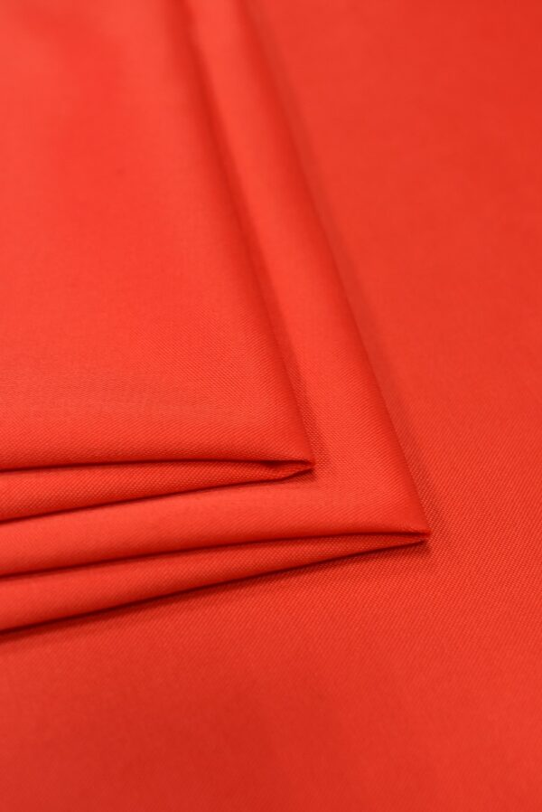 Атлас стрейч красно-коралловый (1844) - Фото 8