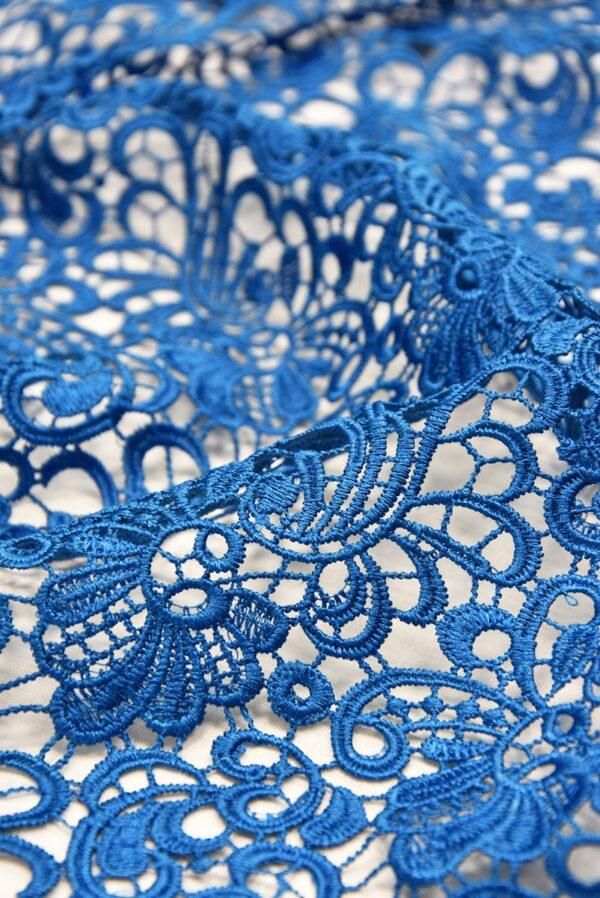 Кружево макраме ажурный узор синий (1852) - Фото 8
