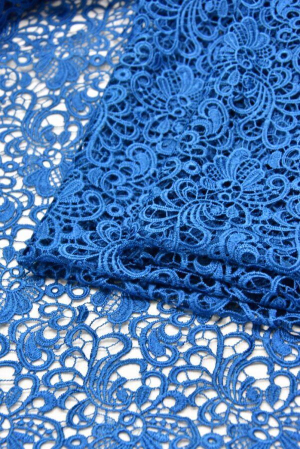 Кружево макраме ажурный узор синий (1852) - Фото 9
