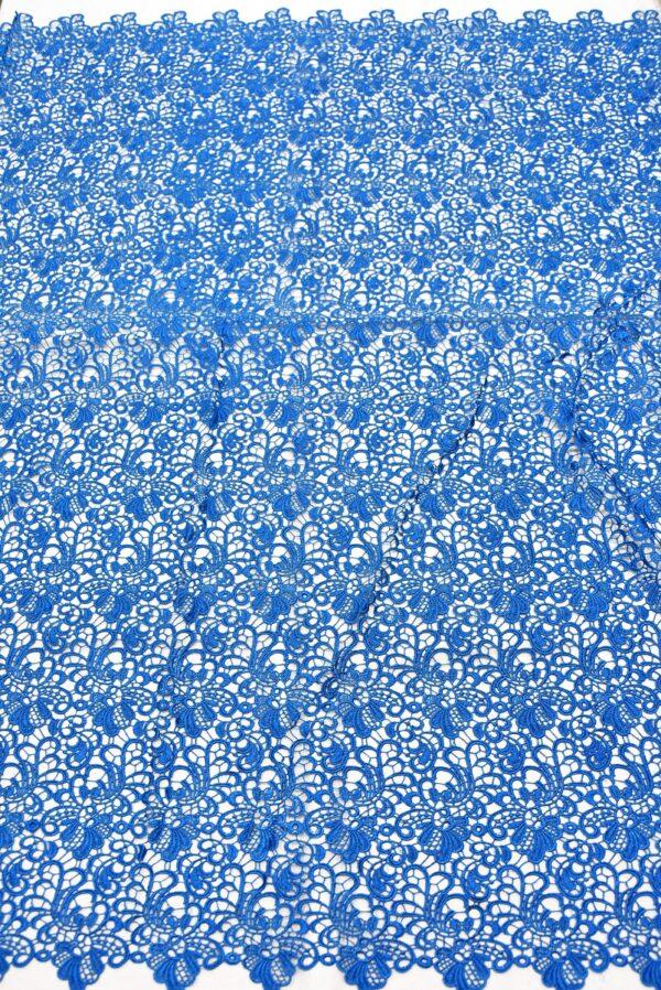 Кружево макраме ажурный узор синий (1852) - Фото 7