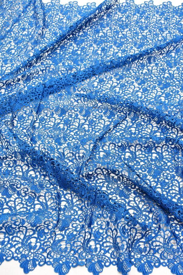 Кружево макраме ажурный узор синий (1852) - Фото 6
