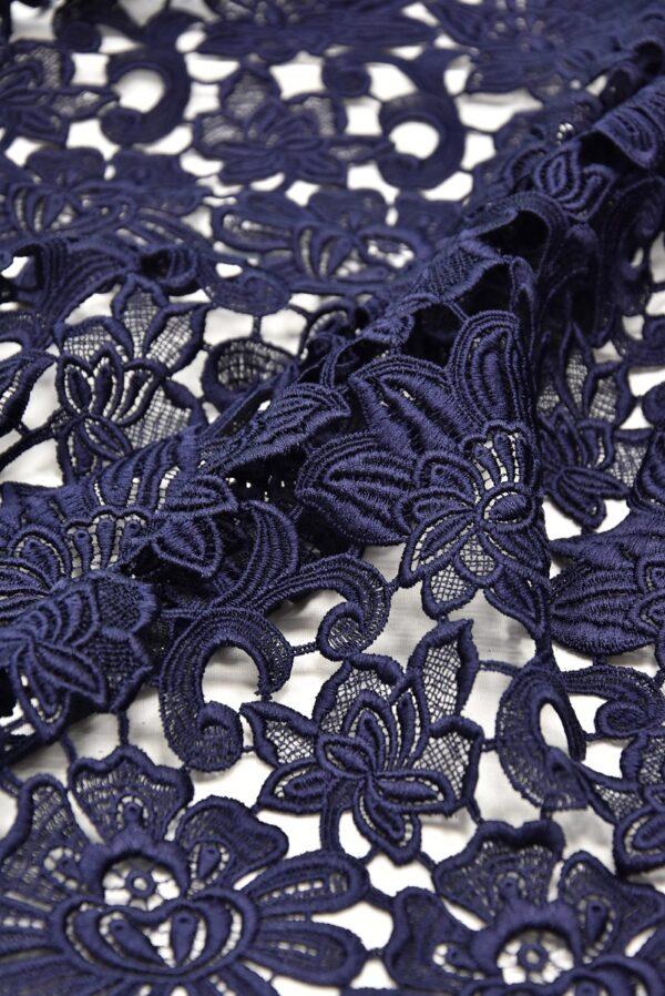 Кружево макраме темно синее с цветами (1957) - Фото 10