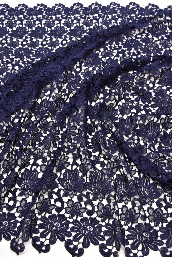 Кружево макраме темно синее с цветами (1957) - Фото 6