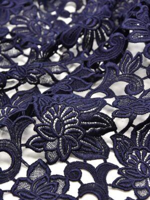Кружево макраме темно синее с цветами (1957) - Фото 12