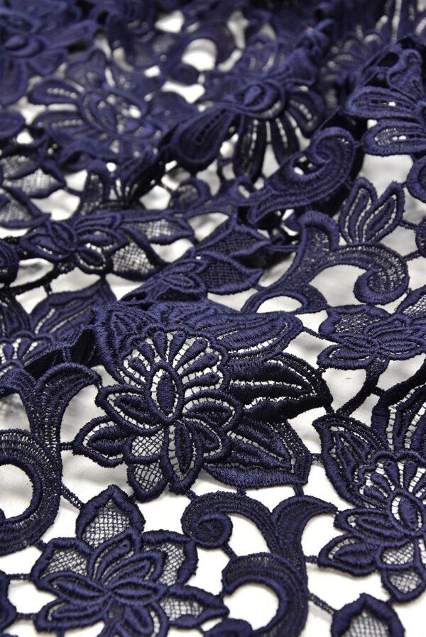 Кружево макраме темно синее с цветами (1957) - Фото 7