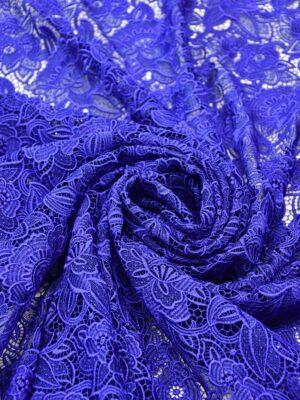 Кружево макраме синее с цветами (2003) - Фото 12