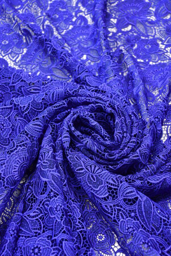 Кружево макраме синее с цветами (2003) - Фото 7