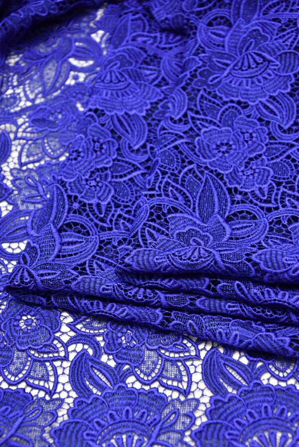 Кружево макраме синее с цветами (2003) - Фото 8
