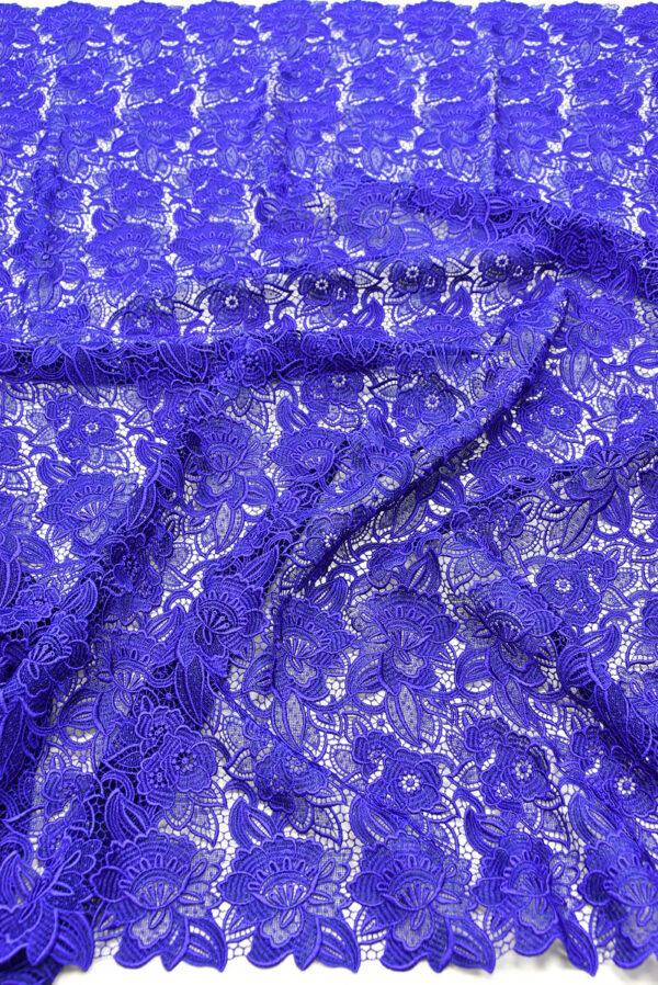 Кружево макраме синее с цветами (2003) - Фото 6