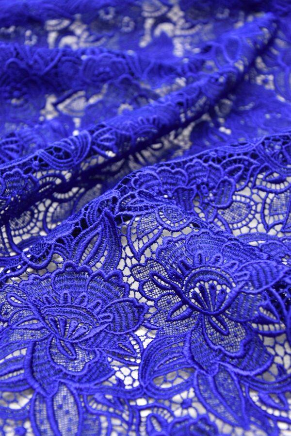 Кружево макраме синее с цветами (2003) - Фото 9