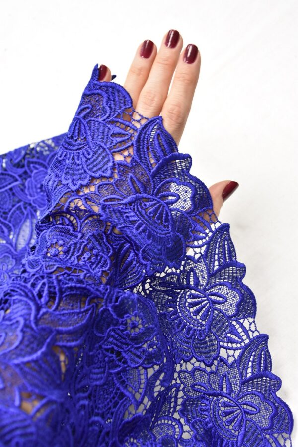 Кружево макраме синее с цветами (2003) - Фото 11