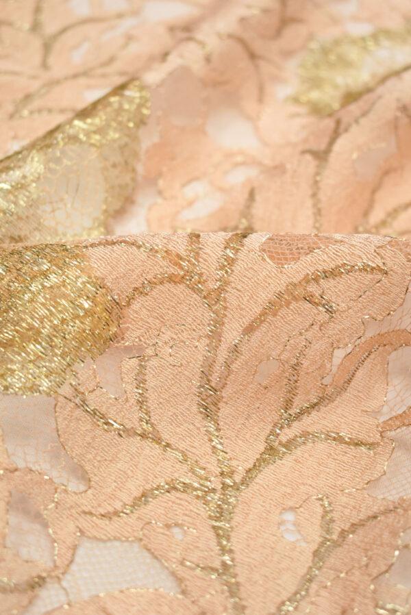 Французское кружево персиковое с золотыми цветами (2006) - Фото 9