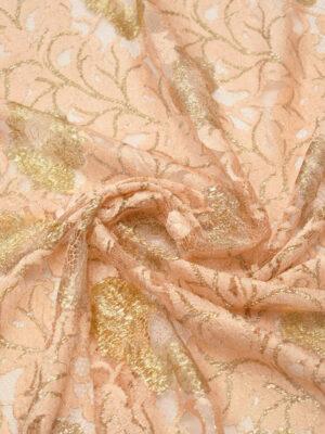 Французское кружево персиковое с золотыми цветами (2006) - Фото 16