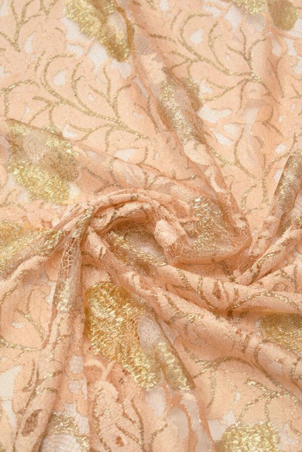 Французское кружево персиковое с золотыми цветами (2006) - Фото 7