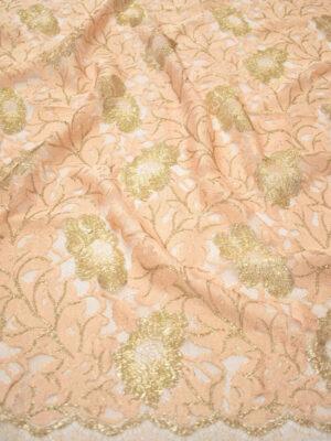 Французское кружево персиковое с золотыми цветами (2006) - Фото 15