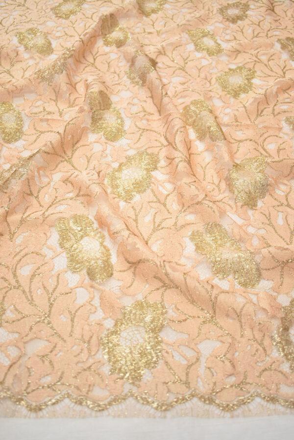 Французское кружево персиковое с золотыми цветами (2006) - Фото 6