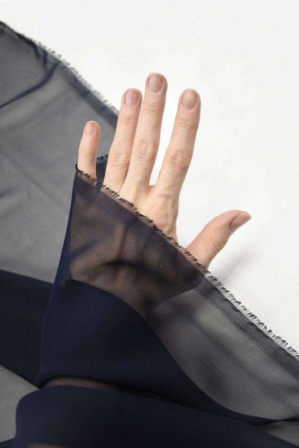 Шифон черничного оттенка (2035) - Фото 10