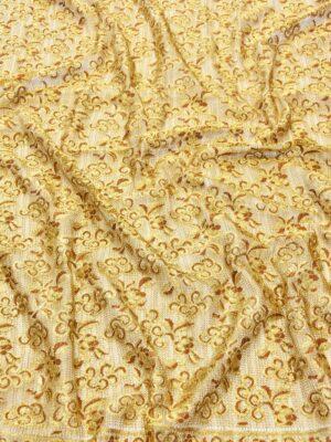 Французское кружево золото цветочный орнамент кайма (2052) - Фото 18