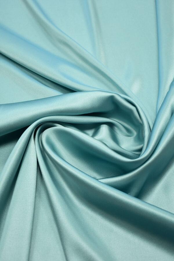 Шелк стрейч атласный голубой (2132) - Фото 8