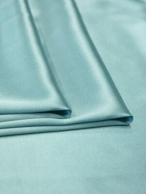 Шелк стрейч атласный голубой (2132) - Фото 15