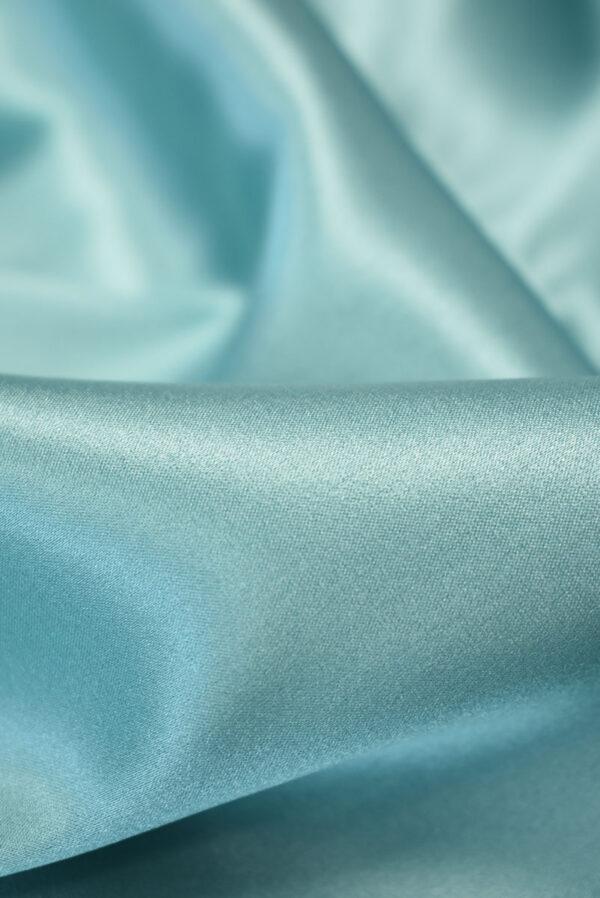 Шелк стрейч атласный голубой (2132) - Фото 10