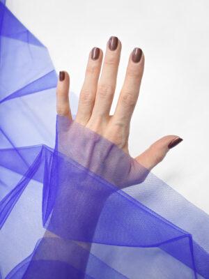 Фатин сетка насыщенный синий оттенок (2226) - Фото 13