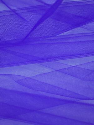 Фатин сетка насыщенный синий оттенок (2226) - Фото 12