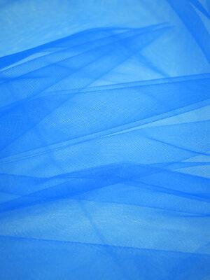 Фатин сетка ярко-голубого оттенка (2238) - Фото 11