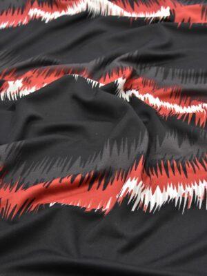 Трикотаж джерси абстракция черный красный белый (2309) - Фото 11