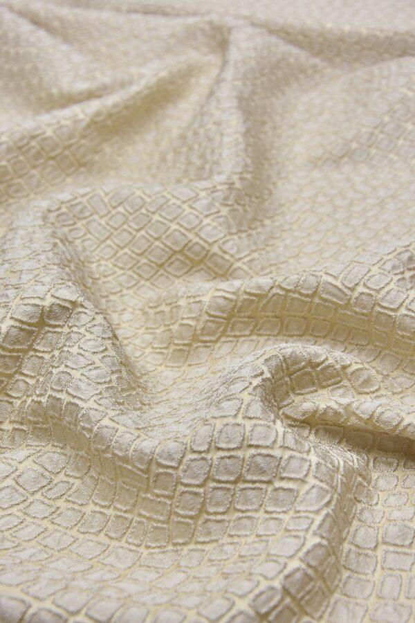 Жаккард ромб бежево-ванильный оттенок (2504) - Фото 6