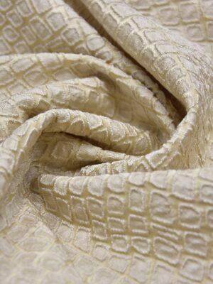Жаккард ромб бежево-ванильный оттенок (2504) - Фото 14