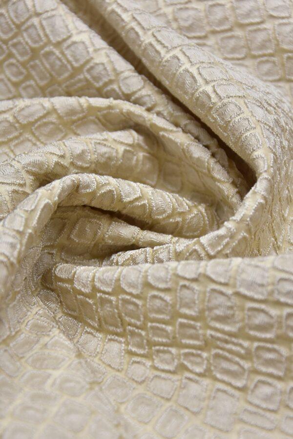 Жаккард ромб бежево-ванильный оттенок (2504) - Фото 7