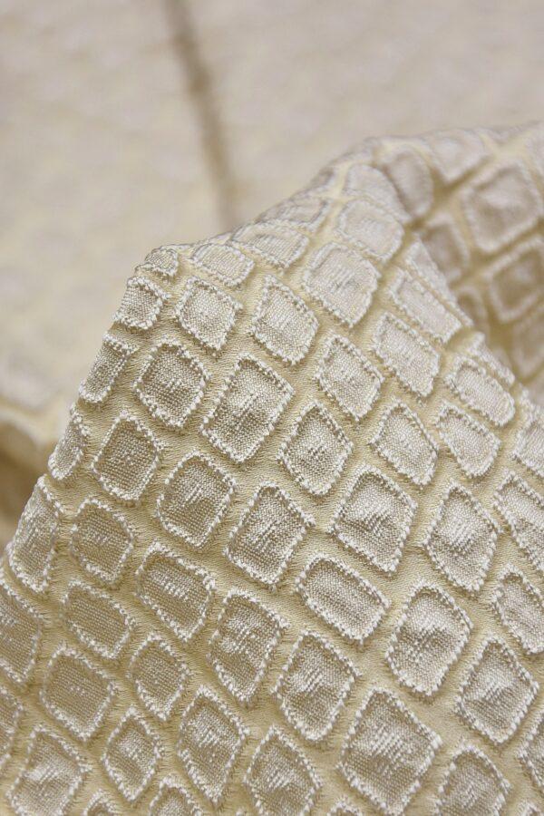 Жаккард ромб бежево-ванильный оттенок (2504) - Фото 9