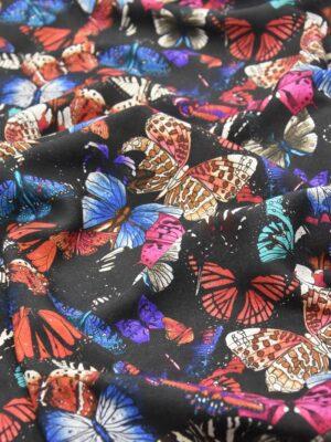 Лен бабочки на черном (2544) - Фото 12