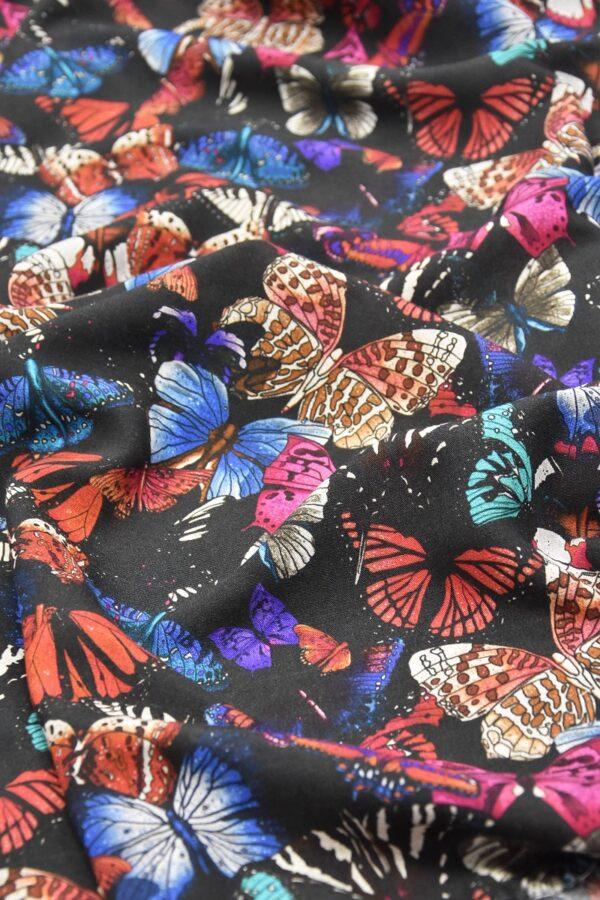 Лен бабочки на черном (2544) - Фото 6
