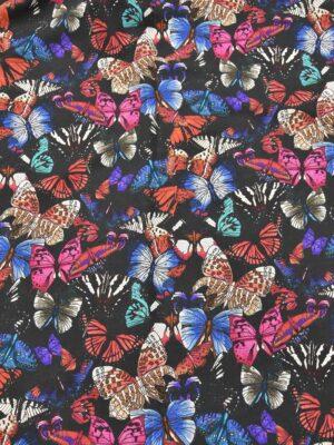 Лен бабочки на черном (2544) - Фото 13